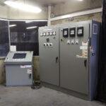 Sala de control digital de horno eléctrico al arco